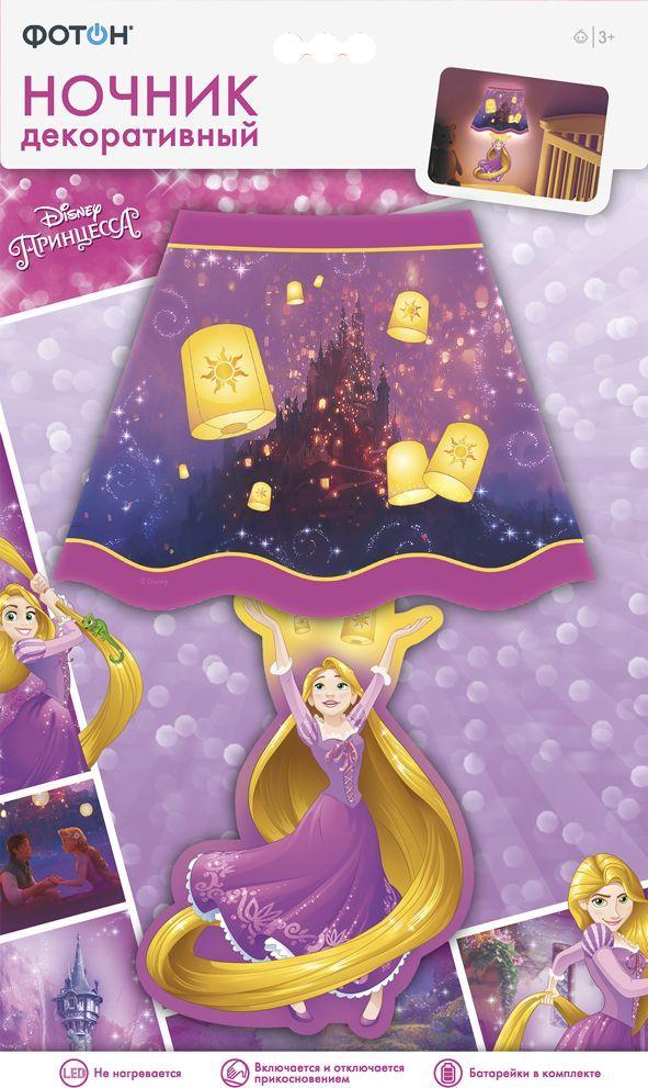 """Если Вы задумались о покупке ночника в детскую для маленькой принцессы, тогда светильник-стикер с персонажами любимого анимационного фильма студии Disney """"Рапунцель. Запутанная история"""" – это идеальное решение! Необычная наклейка совмещает в себе сразу две функции - это и украшение интерьера в дневное время, и подсветка в вечернее. Ночник-стикер крепится к гладким поверхностям, включается и выключается легким прикосновением к абажуру, не нагревается в процессе работы. Клейкая основа позволяет многократно переклеивать ночник без повреждения поверхности. Красочный ночник создаст в любой комнате сказочный уют!  Важно! С осторожностью используйте ночник на слабых, пористых и бумажных поверхностях (обои, побелка, свежая краска)."""