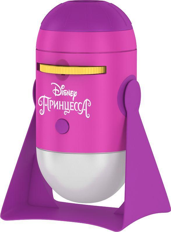 """Детский проекционный ночник, с ярким мультипликационным контентом,  объединил в себе теплые ностальгические воспоминания старшего поколения о  диафильмах и детскую любовь к популярным мульт-персонажам. Коллекция  из 8-ми прекрасных принцесс Disney порадует девочек. Ночник работает в двух  режимах: проецирует изображение на потолок или освещает комнату мягким  белым светом, переключается при помощи одной кнопки. Качественные  проекции любимых героев и простота в использовании доставят ребенку море  удовольствия. Самые любимые принцессы Disney на восьми  мультипликационных  слайдах; проекция на любую поверхность с ручной регулировкой фокуса; легкий  и интересный способ уложить ребёнка спать. Таймер автоотключения через 15  минут. К ночничку подходят любые диски от мультфонариков """"ФОТОН""""."""
