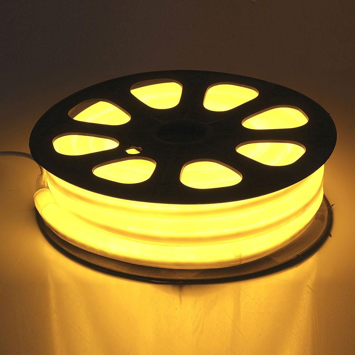 Гирлянда светодиодная  Sima-land , 80 ламп, 220 V, цвет: желтый, 1,2 см х 2,4 см х 10 м. 678011 -  Гирлянды и светильники