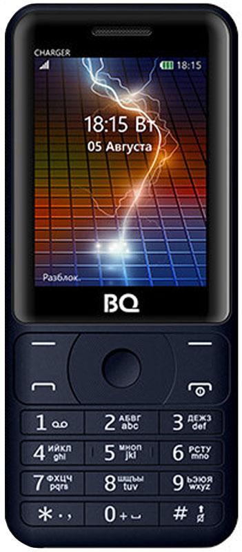 BQ 2425 Charger, Dark Blue85954010BQ 2425 Charger - надежный и простой в использовании не просто телефон, а настоящий пауэр-банк!Аккумулятор объемом 3000 мАч, позволит полностью насладится функционалом телефона, не беспокоясь о зарядке, а заодно подзарядить и другие электронные устройства..Отличные функции, передовой дизайн, доступный в трех расцветках.Яркий экран с диагональю 2,4 удобен как для общения, так и для развлечения. Поддерживает 2 сим-карты и оснащен слотом под microSD до 64 ГБ памяти, что позволяет хранить внушительное количество мультимедиа и информации. Легкий и удобный в использовании. Телефон сертифицирован EAC и имеет русифицированную клавиатуру, меню и Руководство пользователя.