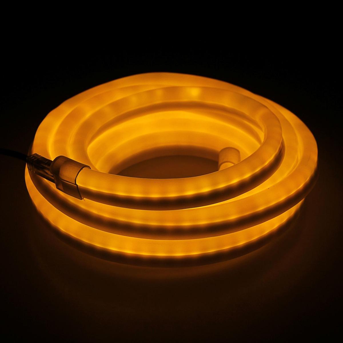 Гирлянда светодиодная Sima-land, 80 ламп, 220 V, цвет: желтый, 1,2 см х 2,4 см х 5 м. 678005678005Светодиодные гирлянды, ленты и т.д — это отличный вариант для новогоднего оформления интерьера или фасада. С их помощью помещение любого размера можно превратить в праздничный зал, а внешние элементы зданий, украшенные ими, мгновенно станут напоминать очертания сказочного дворца. Такие украшения создают ауру предвкушения чуда. Деревья, фасады, витрины, окна и арки будто специально созданы, чтобы вы украсили их светящимися нитями.