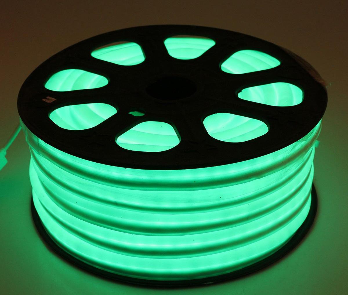 Гирлянда светодиодная Sima-land, 80 ламп, 220 V, цвет: зеленый, 1,2 см х 2,4 см х 20 м. 678018678018Светодиодные гирлянды, ленты и т.д — это отличный вариант для новогоднего оформления интерьера или фасада. С их помощью помещение любого размера можно превратить в праздничный зал, а внешние элементы зданий, украшенные ими, мгновенно станут напоминать очертания сказочного дворца. Такие украшения создают ауру предвкушения чуда. Деревья, фасады, витрины, окна и арки будто специально созданы, чтобы вы украсили их светящимися нитями.