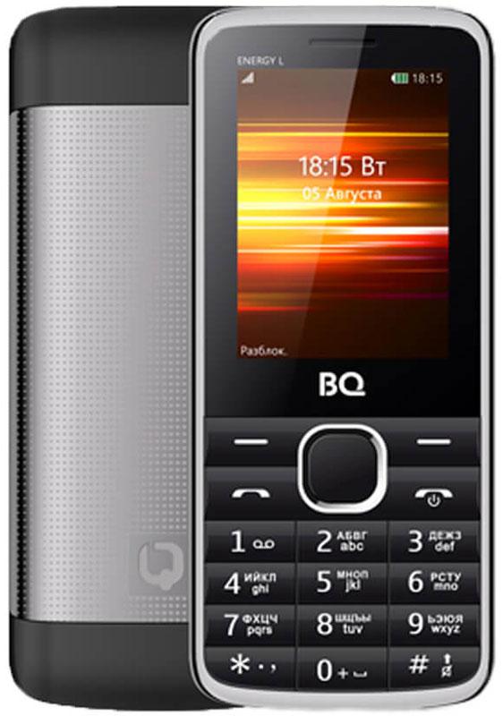 BQ 2426 Energy L, Black85954000BQ 2426 Energy L оснащен 2.4 дюймовым дисплеем с достаточной для комфортного просмотра -цветопередачей. Помимо основной функции связи, в телефоне предусмотрены встроенное FM-радио и модуль Bluetooth.Помимо аудио-звонка, в BQ 2426 Energy L установлен виброзвонок для работы в бесшумном или режиме полета. Аккумулятор мощностью 2500 мAч обеспечит до нескольких дней автономной работы смартфона. Металлическая крыша это не только удачное решение, но реальное увеличение прочности аппарата.Телефон сертифицирован EAC и имеет русифицированную клавиатуру, меню и Руководство пользователя.