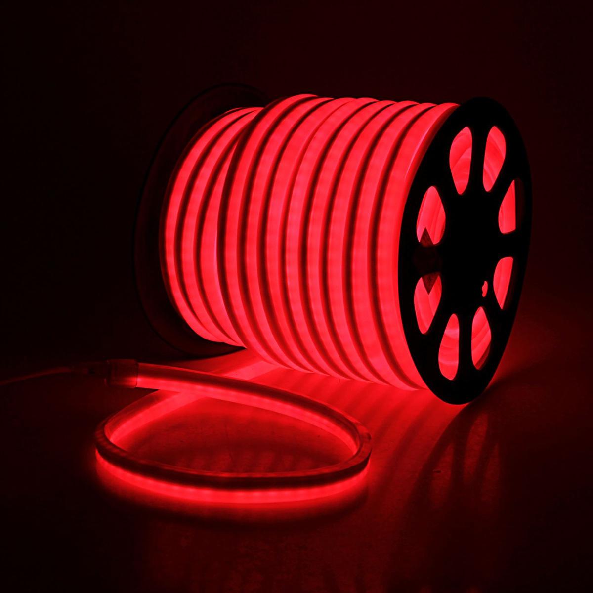 Гирлянда светодиодная  Sima-land , 80 ламп, 220 V, цвет: красный, 1,2 см х 2,4 см х 50 м. 185467 -  Гирлянды и светильники