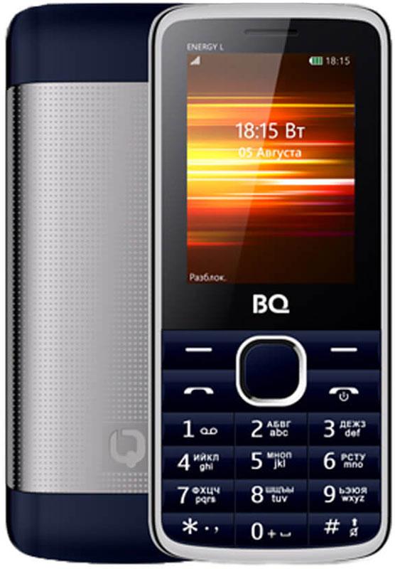 BQ 2426 Energy L, Dark Blue85954002BQ 2426 Energy L оснащен 2.4 дюймовым дисплеем с достаточной для комфортного просмотра -цветопередачей. Помимо основной функции связи, в телефоне предусмотрены встроенное FM-радио и модуль Bluetooth.Помимо аудио-звонка, в BQ 2426 Energy L установлен виброзвонок для работы в бесшумном или режиме полета. Аккумулятор мощностью 2500 мAч обеспечит до нескольких дней автономной работы смартфона. Металлическая крыша это не только удачное решение, но реальное увеличение прочности аппарата.Телефон сертифицирован EAC и имеет русифицированную клавиатуру, меню и Руководство пользователя.
