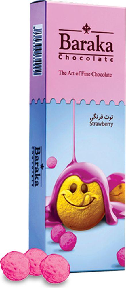 Baraka Бисквитные шарики в молочном шоколаде с клубничным вкусом, 100 г простоквашино сливки 20% 350 г