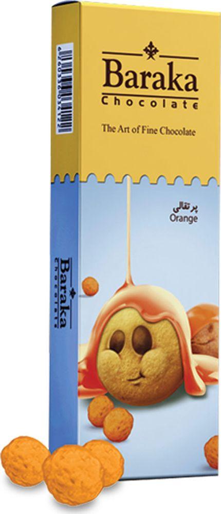 Baraka Бисквитные шарики в молочном шоколаде с апельсиновым вкусом, 100 г футболка в полоску baraka