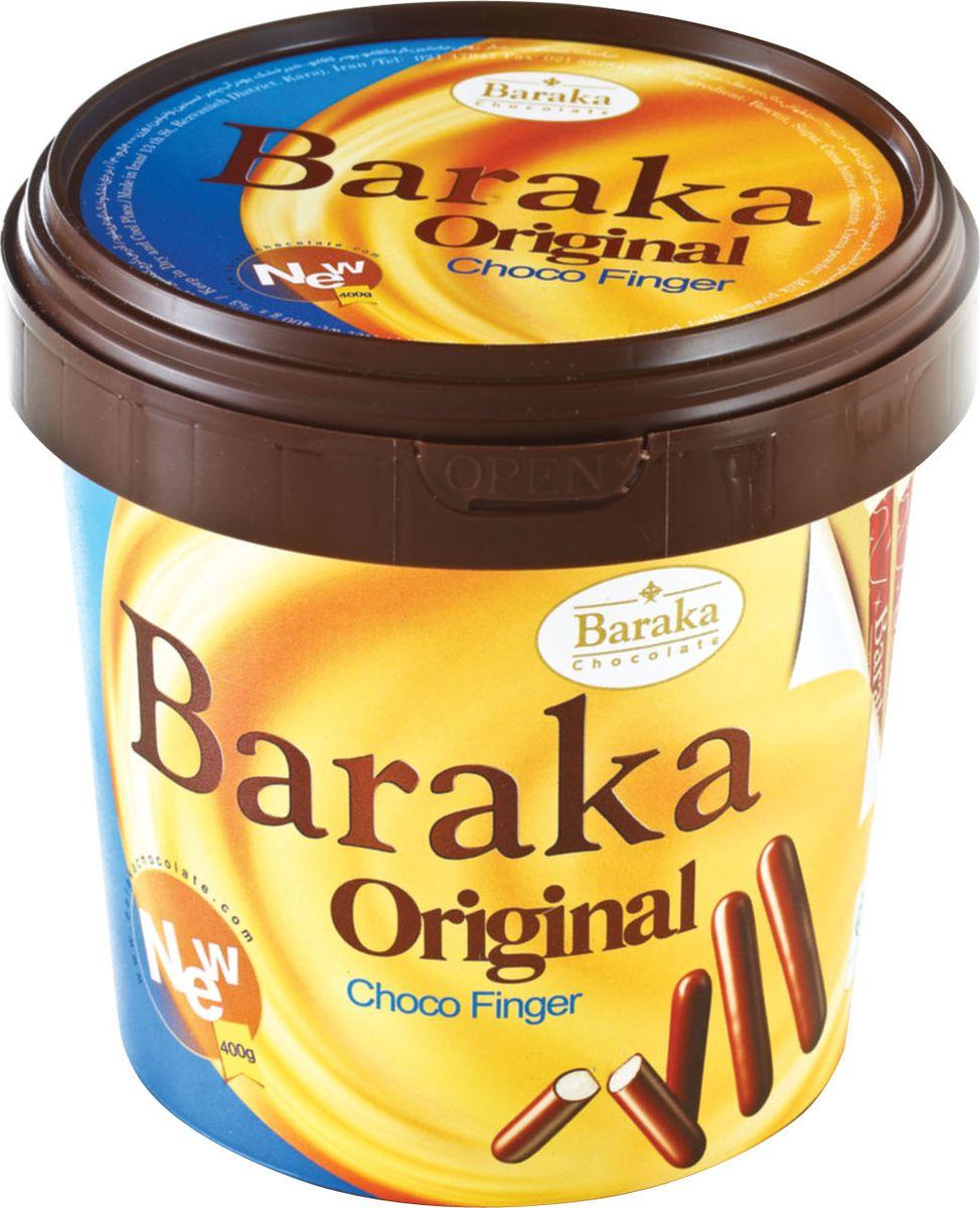 Baraka Пальчики шоколадные, 400 г7.23.04Бисквитные палочки в молочном шоколаде.