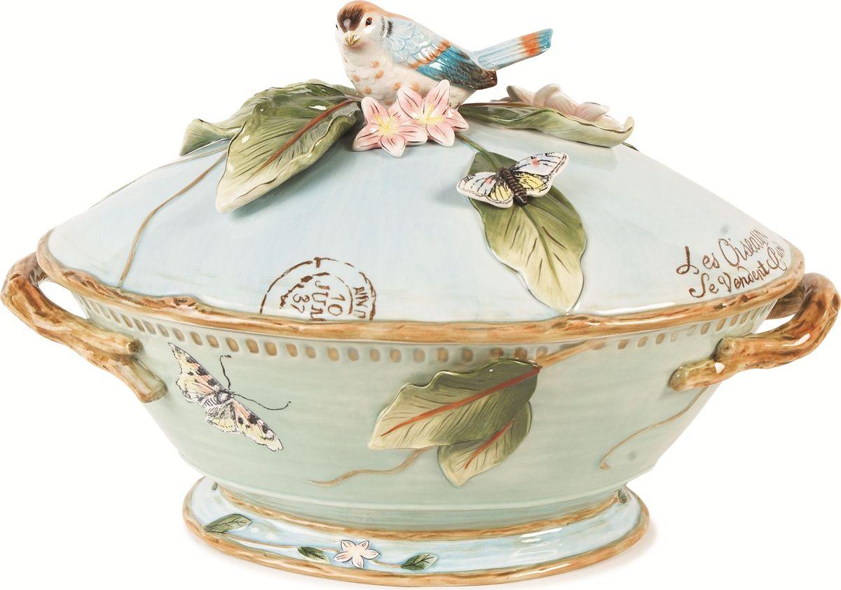 Супница Fitz and Floyd Тулуза, 3,2 л20-484Оригинальная посуда из керамики знаменитой американской марки Fitz and Floyd - это качественный яркий и запоминающийся подарок, который прекрасно подойдет для сервировки вашего стола. Материал: керамика, расписанная вручную. Рекомендуется бережная ручная мойка с использованием безабразивных моющих средств.