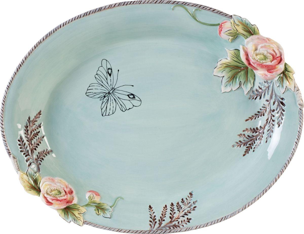 Блюдо для сервировки Fitz and Floyd Английский сад, 40 см21-059Блюдо для сервировки, 40см Материал - керамика, расписанная вручнуюРекомендуется бережная ручная мойка с использованием безабразивных моющих средств