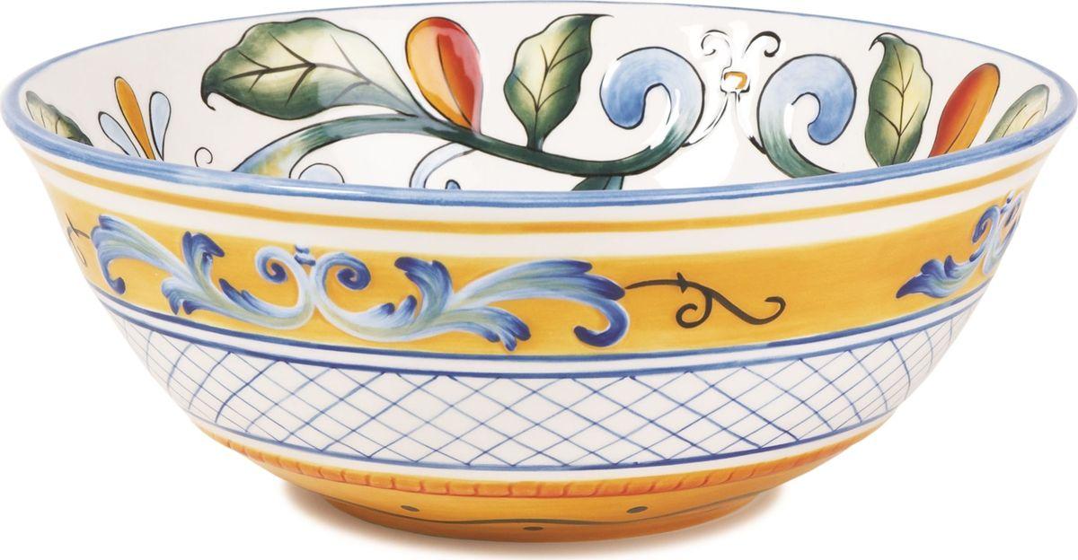 Fitz and Floyd Блюдо Рикамо 24,5 см63-483Блюдо круглое глубокое, 24см Материал - керамика, расписанная вручнуюРекомендуется бережная ручная мойка с использованием безабразивных моющих средств