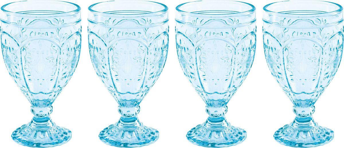 Набор бокалов Fitz and Floyd Летний бриз. Аква, 400 мл, 4 шт подставка для торта fitz and floyd цветущая сакура 28 см