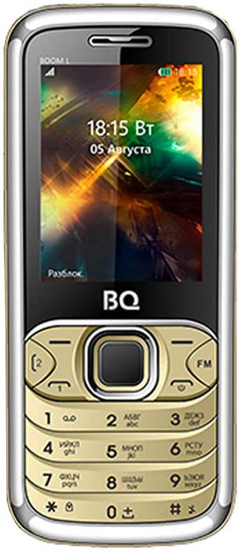 BQ 2427 Boom L, Gold85953742BQ 2427 Boom L простой сотовый телефон в стильном корпусе. Он оснащен 2.4 дюймовым дисплеем с достаточной для комфортного просмотра -цветопередачей. Помимо основной функции связи, в телефоне предусмотрен встроенный модуль Bluetooth.Данная модель также обладает громким внешним динамиком и слотом для карты памяти объемом до 8 Гб. Также оснащен встроенной фотокамерой 1,3 Мпикс.Телефон сертифицирован EAC и имеет русифицированную клавиатуру, меню и Руководство пользователя.