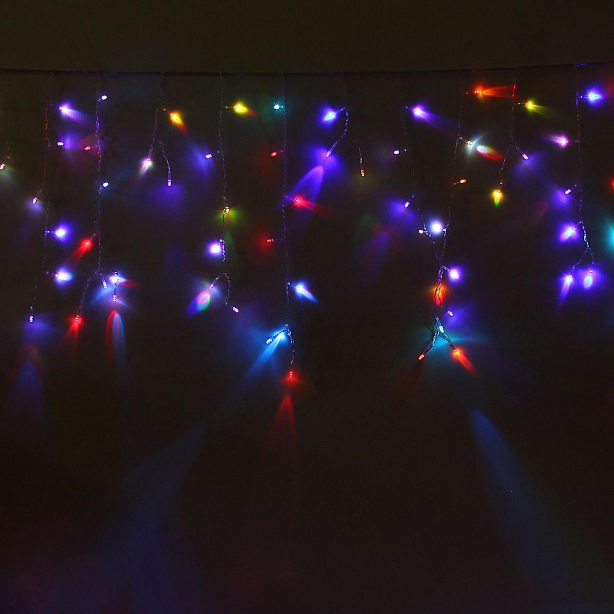 Гирлянда светодиодная Luazon Бахрома, моргает, 299 ламп, 220 V, цвет: мультиколор, 5,2 х 0,6 м. 10804271080427Светодиодные гирлянды, ленты и т.д — это отличный вариант для новогоднего оформления интерьера или фасада. С их помощью помещение любого размера можно превратить в праздничный зал, а внешние элементы зданий, украшенные ими, мгновенно станут напоминать очертания сказочного дворца. Такие украшения создают ауру предвкушения чуда. Деревья, фасады, витрины, окна и арки будто специально созданы, чтобы вы украсили их светящимися нитями.