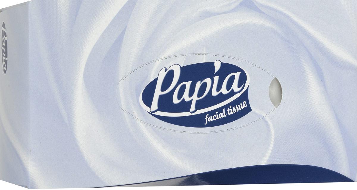 Papia Салфетки для лица, 2 слоя, 100 шт цвет: серый, синий tork салфетки для лица ультрамягкие 2сл 100л коробка 20 шт
