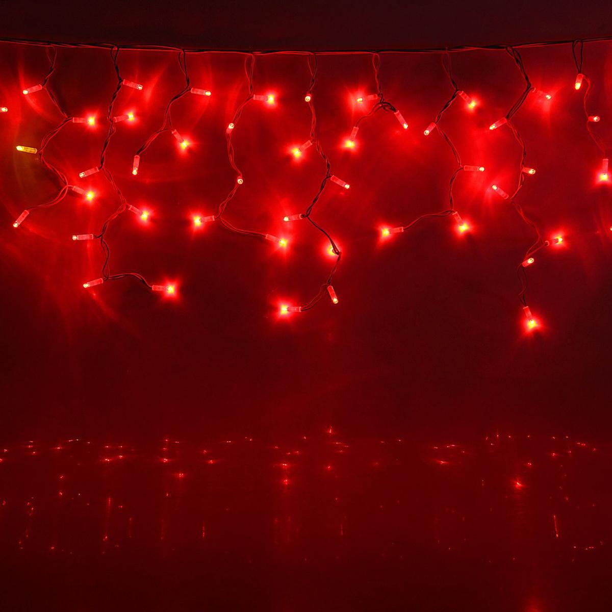 Гирлянда светодиодная Luazon Бахрома, уличная, 330 ламп, 220 V, цвет: красный, 5,6 х 0,9 м. 15859781585978Светодиодные гирлянды, ленты и т.д — это отличный вариант для новогоднего оформления интерьера или фасада. С их помощью помещение любого размера можно превратить в праздничный зал, а внешние элементы зданий, украшенные ими, мгновенно станут напоминать очертания сказочного дворца. Такие украшения создают ауру предвкушения чуда. Деревья, фасады, витрины, окна и арки будто специально созданы, чтобы вы украсили их светящимися нитями.