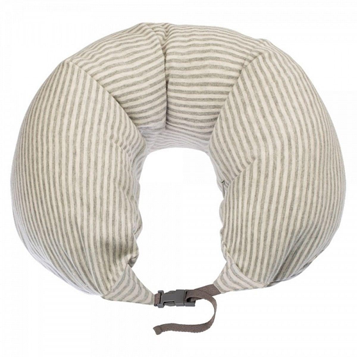 Подушка для шеи Woodsurf  La Siesta. Полоска , массажная, USB, цвет: светло-серый - Подушки