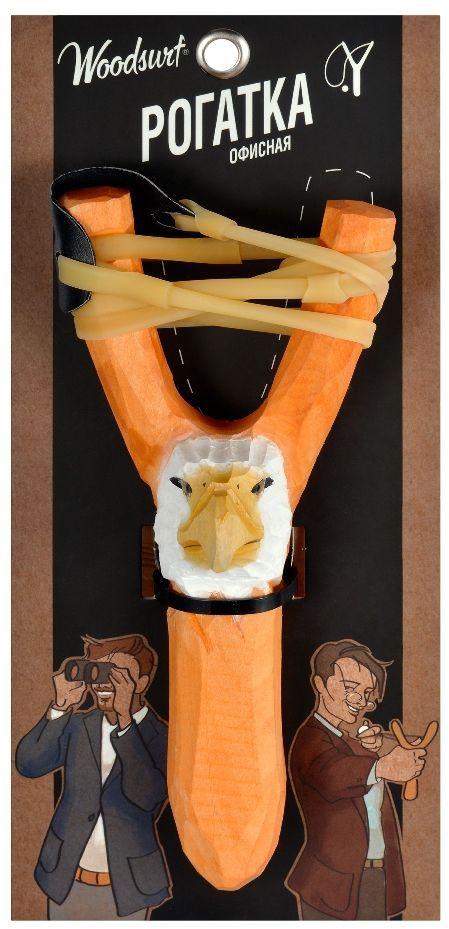 Рогатка офисная Woodsurf  Орел , цвет: оранжевый - Стрелковый спорт