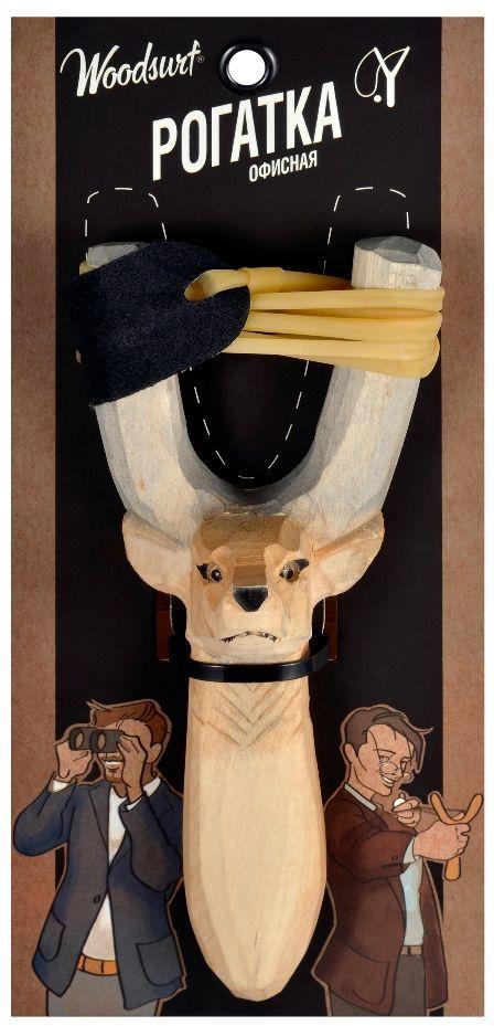 Рогатка офисная Woodsurf  Олень , цвет: светло-коричневый - Стрелковый спорт