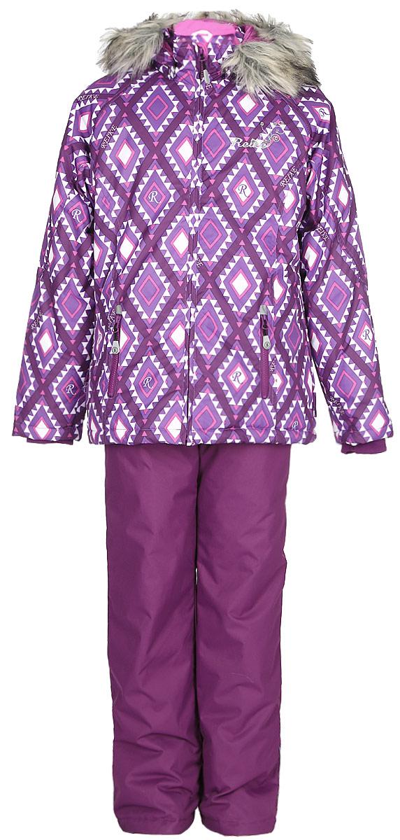Комплект для девочки: куртка, полукомбинезон Reike, цвет: фиолетовый. 3944515_RMB purple. Размер 1343944515_RMB purple