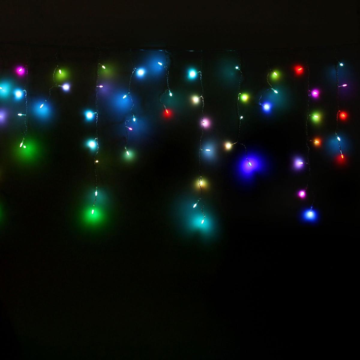Гирлянда светодиодная Luazon Бахрома. Игла, моргает, 60 ламп, 220 V, цвет: мультиколор, 1,2 х 0,6 м. 1080538187250Светодиодные гирлянды, ленты и т.д — это отличный вариант для новогоднего оформления интерьера или фасада. С их помощью помещение любого размера можно превратить в праздничный зал, а внешние элементы зданий, украшенные ими, мгновенно станут напоминать очертания сказочного дворца. Такие украшения создают ауру предвкушения чуда. Деревья, фасады, витрины, окна и арки будто специально созданы, чтобы вы украсили их светящимися нитями.