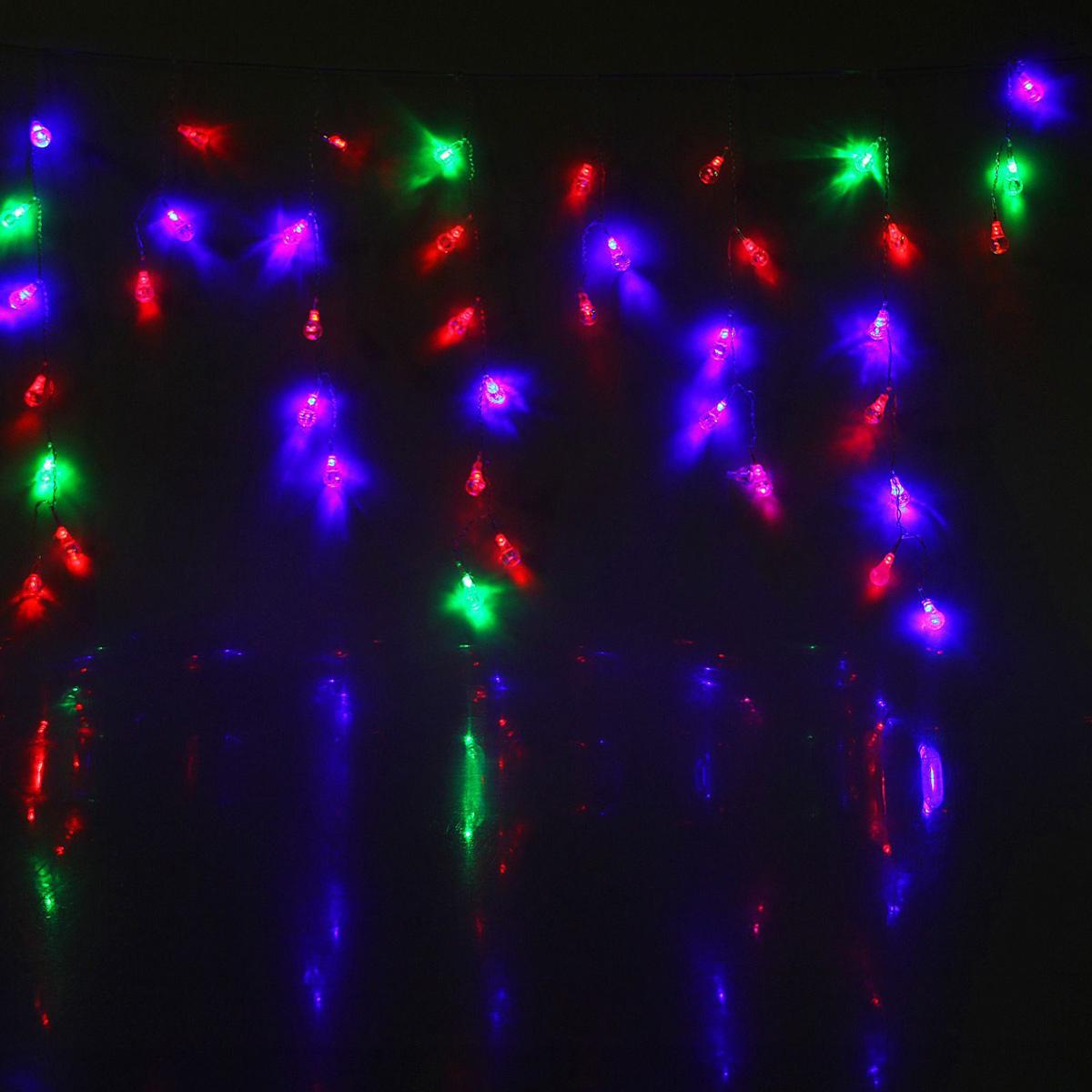 Гирлянда светодиодная Luazon Бахрома. Капля, 100 ламп, 220 V, цвет: мультиколор, 2,8 х 0,6 м. 1080448187259Светодиодные гирлянды, ленты и т.д — это отличный вариант для новогоднего оформления интерьера или фасада. С их помощью помещение любого размера можно превратить в праздничный зал, а внешние элементы зданий, украшенные ими, мгновенно станут напоминать очертания сказочного дворца. Такие украшения создают ауру предвкушения чуда. Деревья, фасады, витрины, окна и арки будто специально созданы, чтобы вы украсили их светящимися нитями.