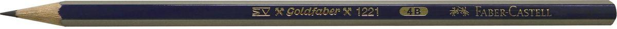 Faber-Castell Карандаш чернографитный Goldfaber 1221 4B112504Faber-Castell - чернографитный карандаш эргономичной шестигранной формы очень хорошего качества. Грифель идеален для рисования итренировки письма. Специальнаятехнология вклеивания (SV) предотвращает поломку грифеля.Корпус покрыт лаком на водной основе - бережным по отношению кокружающей среде и здоровью детей.Качественная древесина - гарантия легкого затачивания при помощи стандартных точилок.