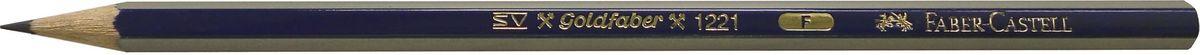 Faber-Castell Карандаш чернографитный Goldfaber 1221 F112510Чернографитовый карандашGoldfaber 1221, • шестигранный карандаш очень хорошегокачества• 12 степеней твердости грифеля• привлекательный дизайн – синие и золотыеполоски, качественная мягкая древесина для хорошегозатачивания• специальная SV технология вклеиванияпредотвращает поломку грифеля при падении• покрыты лаком на водной основе, твердость F