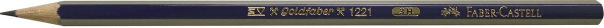 Faber-Castell Карандаш чернографитный Goldfaber 1221 3H112513Чернографитовый карандаш Goldfaber 1221, • шестигранный карандаш очень хорошего качества • 12 степеней твердости грифеля • привлекательный дизайн – синие и золотые полоски, качественная мягкая древесина для хорошего затачивания • специальная SV технология вклеивания предотвращает поломку грифеля при падении • покрыты лаком на водной основе, твердость 3H