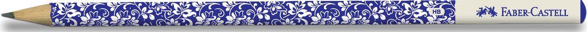 Faber-Castell Карандаш чернографитный Floral цвет синий белый119240_синий, белыйЧернографитовый карандаш Floral.• круглая форма • необычный цвет корпуса • твердость HB • легкое затачивание • специальная технология вклеивания (SV) предотвращает поломку грифеля