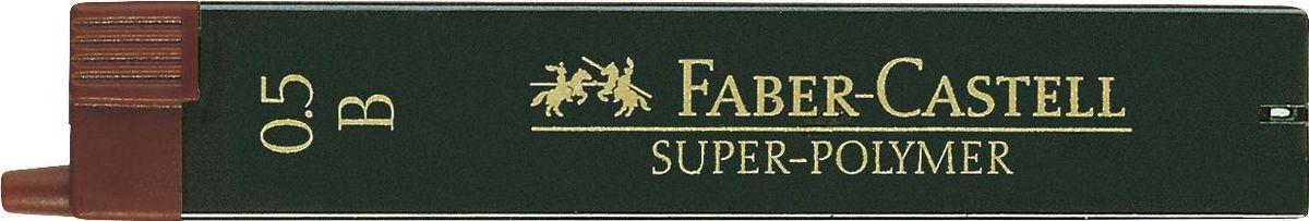 Faber-Castell Грифель для механического карандаша Superpolymer B 0,5 мм 12 шт120501Графитные грифели Super-Polymer, • качественные графитные грифели • пригодны для всех стандартных механических карандашей • интенсивные черные полные линии • практичная упаковка, позволяющая производить чистую замену грифеля благодаря насадке • толщина грифеля по цвету • одна упаковка содержит 12 грифелей 0,5мм, твердость B