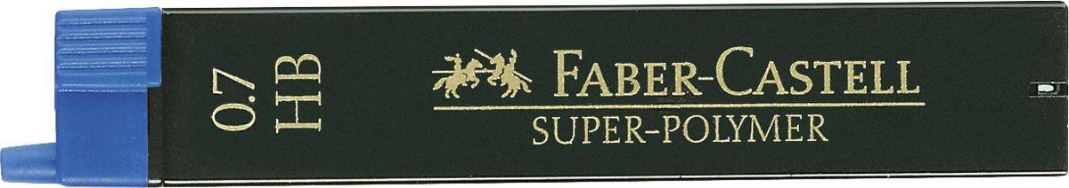 Faber-Castell Грифель для карандаша Superpolymer HB 0,7 мм 12 шт120700Графитные грифели Super-Polymer, • качественные графитные грифели• пригодны для всех стандартных механическихкарандашей• интенсивные черные полные линии• практичная упаковка, позволяющаяпроизводить чистую замену грифеля благодарянасадке• толщина грифеля по цвету• одна упаковка содержит 12 грифелей, 0,7мм, твердость HB