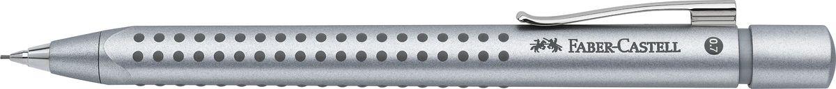 Faber-Castell Карандаш механический Grip 2011 цвет серебристый131211Механический карандаш Grip 2011,• запатентованная антискользящая зона захватаGrip с малыми массажными шашечками• эргономичная трехгранная форма• упругий клип, наконечник и выдвижнойколпачок наконечника из металла• система, предотвращающая поломку грифеля• оптимальная толщина грифеля 0,7 мм• качественный, длинный, выдвижной ластик,защищенный колпачком• система автоматической подачи грифеля, серебрянный