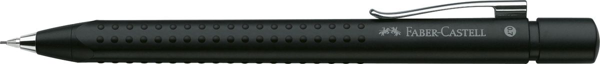 Faber-Castell Карандаш механический Grip 2011 0,7 мм цвет корпуса черный131287Механический карандаш Grip 2011,• запатентованная антискользящая зона захвата Grip с малыми массажными шашечками • эргономичная трехгранная форма • упругий клип, наконечник и выдвижной колпачок наконечника из металла • система, предотвращающая поломку грифеля • оптимальная толщина грифеля 0,7 мм • качественный, длинный, выдвижной ластик, защищенный колпачком • система автоматической подачи грифеля, черный металлик