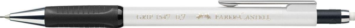 Faber-Castell Карандаш механический Grip 1347 0,7 мм цвет корпуса белый134701Механический карандаш Grip 1347,• антискользящая резиновая область захвата • убирающийся внутрь кончик • упругий клип и металлический наконечник • экстрадлинный выдвижной ластик • привлекательные цвета металлик • толщина грифеля: 075 мм (1347)