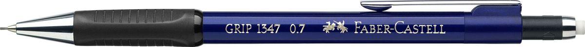 Faber-Castell Карандаш механический Grip 1347 0,7 мм цвет корпуса синий134751Механический карандаш Faber-Castell станет незаменимым инструментом для начинающих ипрофессиональных художников, а также подойдет для повседневных записей.Особенности:- антискользящая резиновая зона захвата; - упругий клип и металлический наконечник; - толщина грифеля 0,7 мм; - убирающийся внутрь кончик; - экстрадлинный выдвижной ластик.