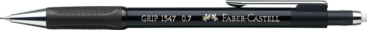 Faber-Castell Карандаш механический Grip 1347 0,7 мм цвет корпуса черный134799Механический карандаш Faber-Castell станет незаменимым инструментом для начинающих ипрофессиональных художников, а также подойдет для повседневных записей.Особенности:- антискользящая резиновая зона захвата; - упругий клип и металлический наконечник; - толщина грифеля 0,7 мм; - убирающийся внутрь кончик; - экстрадлинный выдвижной ластик.