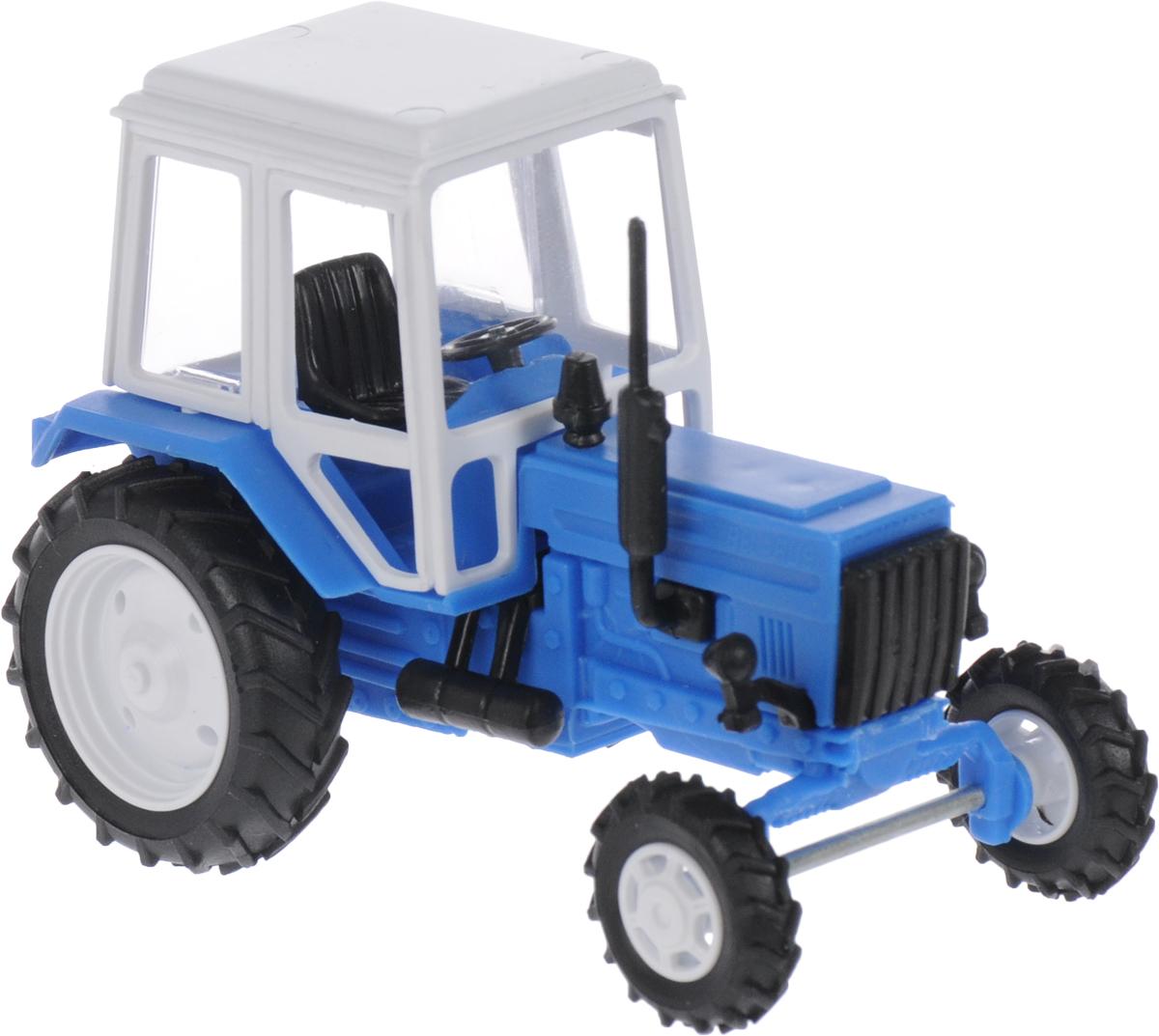 Мир отечественных моделей Трактор МТЗ-82 цвет голубой мир отечественных моделей трактор мтз 82 с прицепом