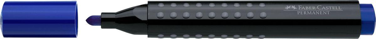 Faber-Castell Маркер перманентный Grip 1504 цвет синий150451Перманентный маркер с круглым наконечником Faber-Castell идеален для любых поверхностей.Быстро сохнет, устойчивы квоздействию воды и стиранию. Характеристики:- эргономичная трехгранная область захвата;- привлекательный полупрозрачный дизайн; - простая система повторного наполнения чернилами.
