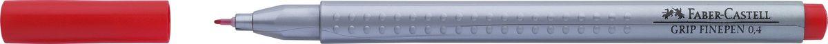 Faber-Castell Ручка капиллярная Grip цвет чернил красный faber castell ручка капиллярная grip цвет чернил карминовый