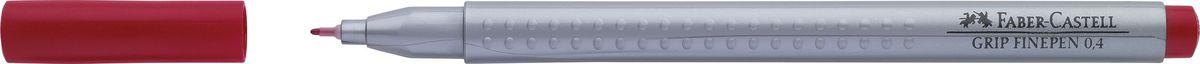 Faber-Castell Ручка капиллярная Grip цвет чернил карминовый151626Капиллярная ручка Faber-Castell идеальна для письма, рисования, набросков. Она имеет эргономичную трехгранную форму.Характеристики: - запатентованная антискользящая зона Grip с малыми массажными шашечками; - толщина линии 0,4 мм, облегчает черчение с линейкой и рисование по шаблону); - корпус из полипропилена обеспечивает длительный срок хранения; - чернила на водной основе с добавлением пищевых красителей безопасны для детей; - вентилируемый колпачок; - отстирываются с большинства обычных тканей.