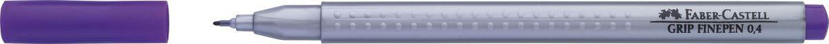 Faber-Castell Ручка капиллярная Grip цвет чернил фиолетовый151634Капиллярная ручка Faber-Castell идеальна для письма, рисования, набросков. Она имеет эргономичную трехгранную форму.Характеристики: - запатентованная антискользящая зона Grip с малыми массажными шашечками; - толщина линии 0,4 мм, облегчает черчение с линейкой и рисование по шаблону); - корпус из полипропилена обеспечивает длительный срок хранения; - чернила на водной основе с добавлением пищевых красителей безопасны для детей; - вентилируемый колпачок; - отстирываются с большинства обычных тканей.