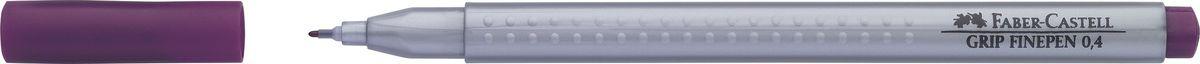 Faber-Castell Ручка капиллярная Grip 0,4 мм цвет чернил сиреневый151637Капиллярные ручки Grip Finepen, трехгранные,эргономичная трехгранная форма • запатентованная антискользящая зона GRIP с малыми массажными шашечками • толщина линии 0,4 мм облегчает черчение с линейкой и рисование по шаблону) • корпус из полипропилена обеспечивает длительный срок хранения • чернила на водной основе с добавлением пищевых красителей безопасны для детей • вентилируемый колпачок • отстирываются с большинства обычных тканей, цвет светлый фиолетовый