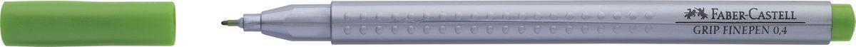 Faber-Castell Ручка капиллярная Grip цвет чернил ярко-зеленый faber castell ручка капиллярная grip цвет чернил карминовый