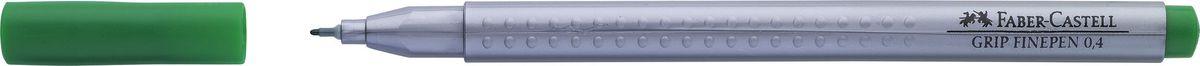 Faber-Castell Ручка капиллярная Grip цвет чернил зеленый151667Капиллярная ручка Faber-Castell идеальна для письма, рисования, набросков. Она имеет эргономичную трехгранную форму.Характеристики: - запатентованная антискользящая зона Grip с малыми массажными шашечками; - толщина линии 0,4 мм, облегчает черчение с линейкой и рисование по шаблону); - корпус из полипропилена обеспечивает длительный срок хранения; - чернила на водной основе с добавлением пищевых красителей безопасны для детей; - вентилируемый колпачок; - отстирываются с большинства обычных тканей.
