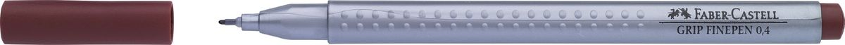 Faber-Castell Ручка капиллярная Grip цвет чернил коричневыйОТК000109Капиллярная ручка Faber-Castell идеальна для письма, рисования, набросков. Она имеет эргономичную трехгранную форму.Характеристики: - запатентованная антискользящая зона Grip с малыми массажными шашечками; - толщина линии 0,4 мм, облегчает черчение с линейкой и рисование по шаблону); - корпус из полипропилена обеспечивает длительный срок хранения; - чернила на водной основе с добавлением пищевых красителей безопасны для детей; - вентилируемый колпачок; - отстирываются с большинства обычных тканей.