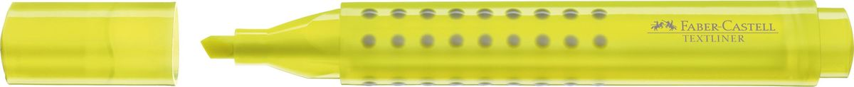 Faber-Castell Текстовыделитель Grip 1543 цвет желтый154307Текстовыделитель Faber-Castell с эргономичной трехгранной областью захвата станет незаменимым предметом, как на столе школьника, так истудента.Изделие имеет привлекательный полупрозрачный дизайн. Имеется возможность повторногонаполнения. Он идеален для всех видов бумаги. Чернила на водной основе.Линия маркировки шириной 5, 2 или1 мм.