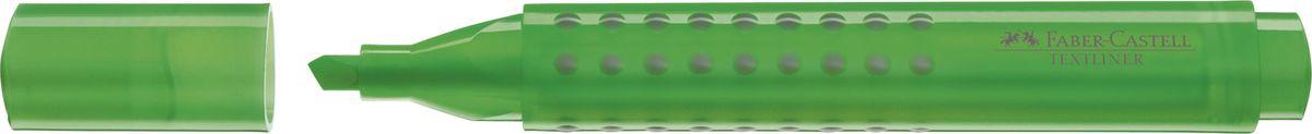 Faber-Castell Текстовыделитель Grip 1543 цвет зеленый154363Текстовыделитель Grip,• эргономичная трехгранная область захвата• привлекательный полупрозрачный дизайн• идеален для всех видов бумаги• линия маркировки шириной 5, 2 или 1 мм• чернила на водной основе• 4 ярких цвета• простая система повторного наполнениячернилами