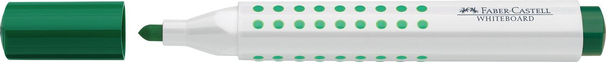 Faber-Castell Маркер для доски Grip цвет зеленый158363Маркер для белой доски Grip ,эргономичная трехгранная область захвата• привлекательный полупрозрачный дизайн• линия маркировки шириной 5, 2 или 1 мм• 4 ярких цвета• простая система повторного наполнениячернилами• контрастные цвета, быстрое высыхание, безсильного запаха, светостойкие• легко стирается с доски, не оставляя следов