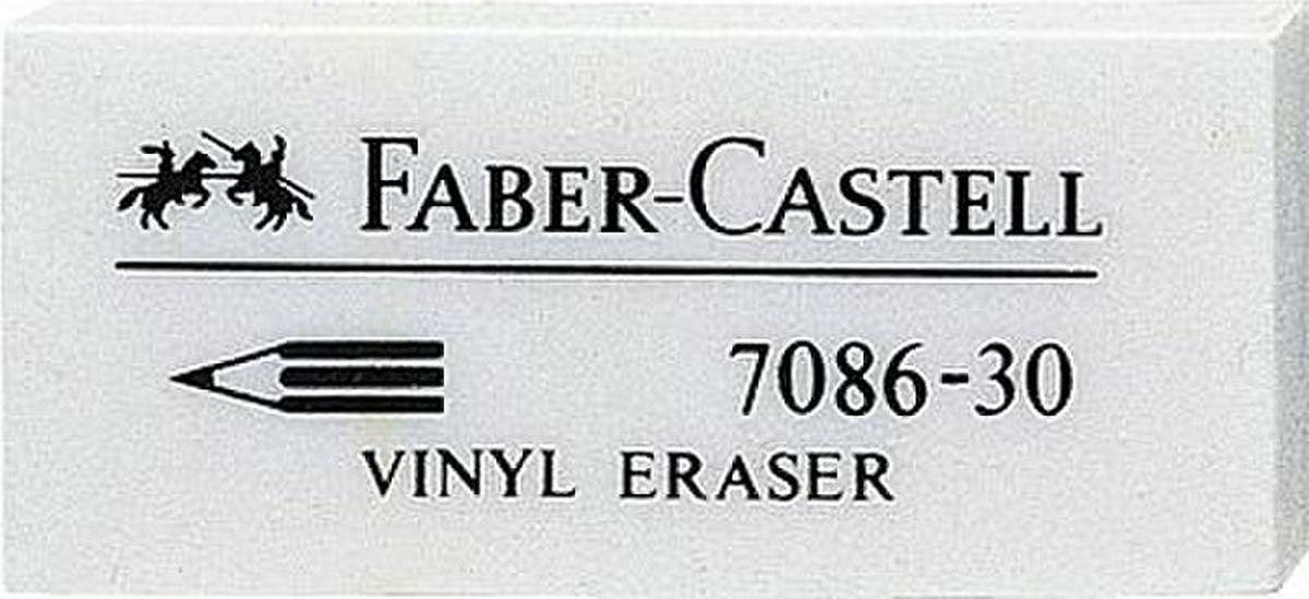Faber-Castell Ластик термопластичный 7086 188730188730Качественный ластик Faber-Castell станет незаменимым аксессуаром на рабочем столе не только школьника или студента, но и офисного работника. Ластик из термопластического материала, несодержит ПВХ. Пригоден для графитных простых и цветных карандашей. Размер: 41 x 18,5 x 11,5 мм.